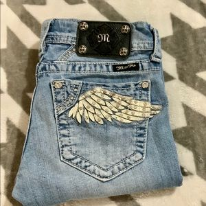 Miss Me Angel Wings Light Washed Jeans